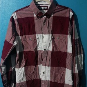 🍄 Men's Express Extra Slim Fit Plaid Button Down